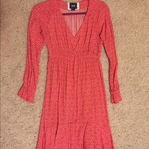 Anthropologie MAEVE Red Flare Dress size XS